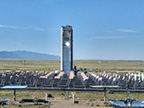 Photo of power tower CSP plant.