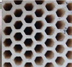 Photo of honeycomb structure.