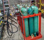 Photo of cluster of gas cylinders